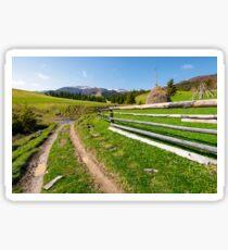 beautiful Carpathian countryside in springtime Sticker