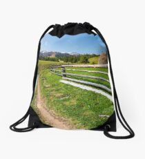 beautiful Carpathian countryside in springtime Drawstring Bag