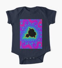 the Mandelbrot set in pink One Piece - Short Sleeve