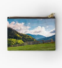 lovely rural landscape in Carpathians Studio Pouch