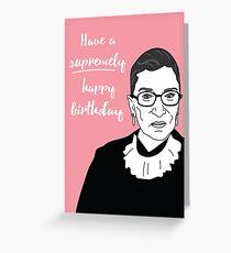RBG Birthday Card Greeting Card
