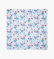 Border Terrier Gifts for Dog Lovers Red, White & Blue Silhouette Scarf