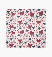 Border Terrier Gifts for Dog Lovers Deep Red, Cream & Navy Silhouette Scarf