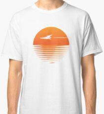 Sunset Cruise - Retro spaceship and sunset Classic T-Shirt