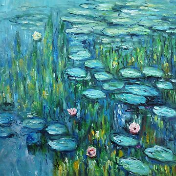 Les Nymphéas (The Water Lilies) Oil Painting by Claude Monet by key-change