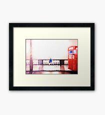 London Bus Painting Framed Print