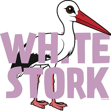 Cute Birdorable White Stork by birdorable