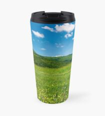 beautiful landscape with meadow in mountains Travel Mug