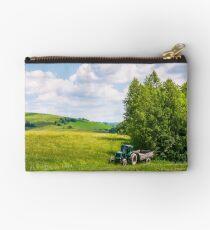 grassy fields on rolling hills in summer Studio Pouch