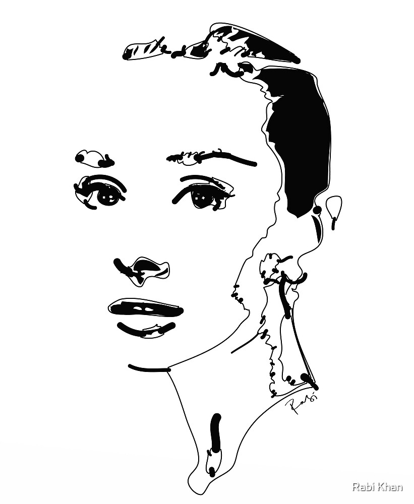 Audrey Hepburn by Rabi Khan