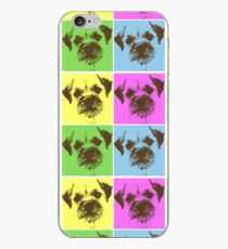 Border Terrier Gifts for Dog Lovers Andy Warhol Inspired Neon Pink, Yellow, Green, Blue iPhone Case