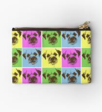 Border Terrier Gifts for Dog Lovers Andy Warhol Inspired Neon Pink, Yellow, Green, Blue Studio Pouch
