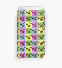 Border Terrier Gifts for Dog Lovers Andy Warhol Inspired Neon Pink, Yellow, Green, Blue Duvet Cover