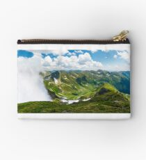 mountainous panorama with rising clouds Studio Pouch
