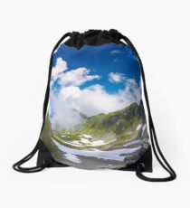 beautiful cloud formation over the gorgeous ridge Drawstring Bag