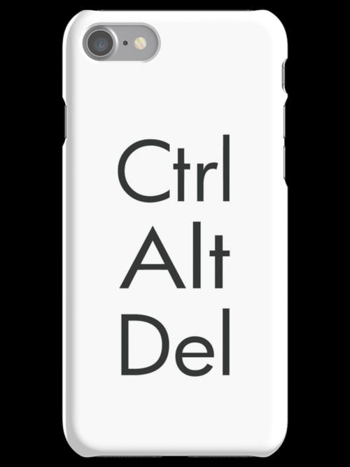 Ctrl Alt Del Iphone Cases Skins By Robotplunger