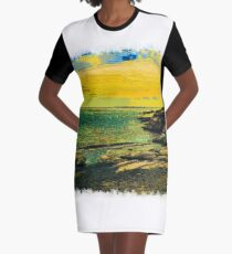 Sea drawn Art Graphic T-Shirt Dress