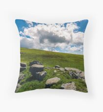 huge cloud rising behind the hill Throw Pillow