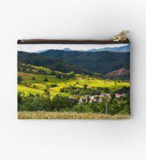 small Carpathian village in mountains Studio Pouch