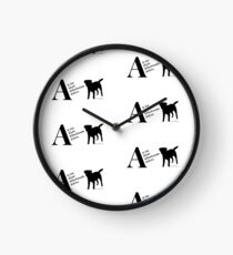 Personalised Border Terrier Gifts for Dog Lovers Letter & Traits Clock
