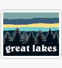 Pegatina Línea Great Lakes Tree