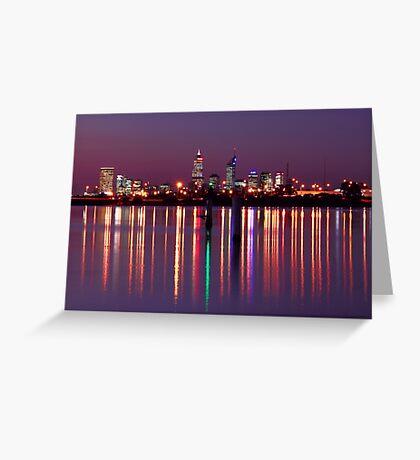 Perth City Reflections  Greeting Card