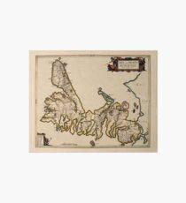 Map Of The Isle Of Skye 1654 Art Board