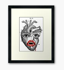 SAVAGE´S HEART. (Organs collection.) Framed Print