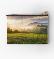 gorgeous sunrise in Carpathian mountains Studio Pouch