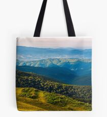 sun lit valley in afternoon Tote Bag