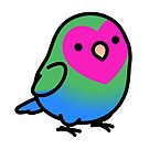 """Poly Polly"" Polysexual LGBT+ Pride Lovebird by birdhism"