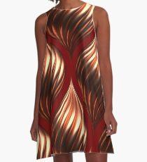 Drehender Tropfen Kupfer A-Linien Kleid