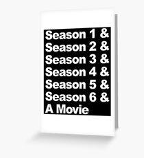 Six Seasons & A Movie Greeting Card