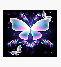 neon butterfly Photographic Print