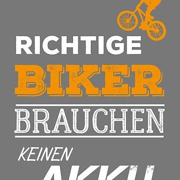 No battery Mountain Biker cyclist by phskulmshirt