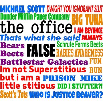 The Office Quotes by everything-shop