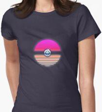Pokeball Vaporwave Women's Fitted T-Shirt