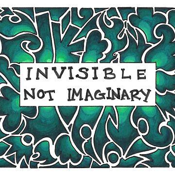 Invisible Not Imaginary (aqua) by Jezunya