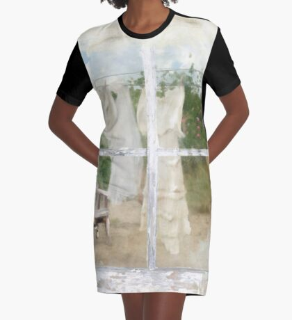 Laundry Day Graphic T-Shirt Dress