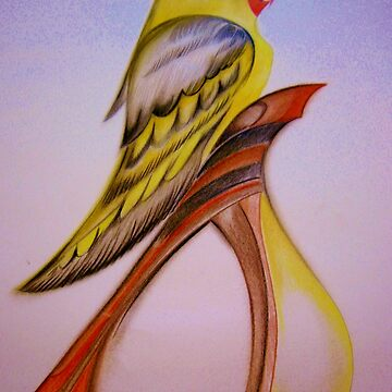 ART DECO COCKATIEL by jacquline8689