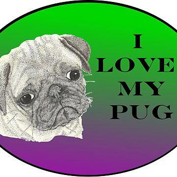 Love My Pug by Yenrab