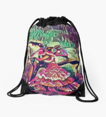 Neon Andalusian Capriole Drawstring Bag
