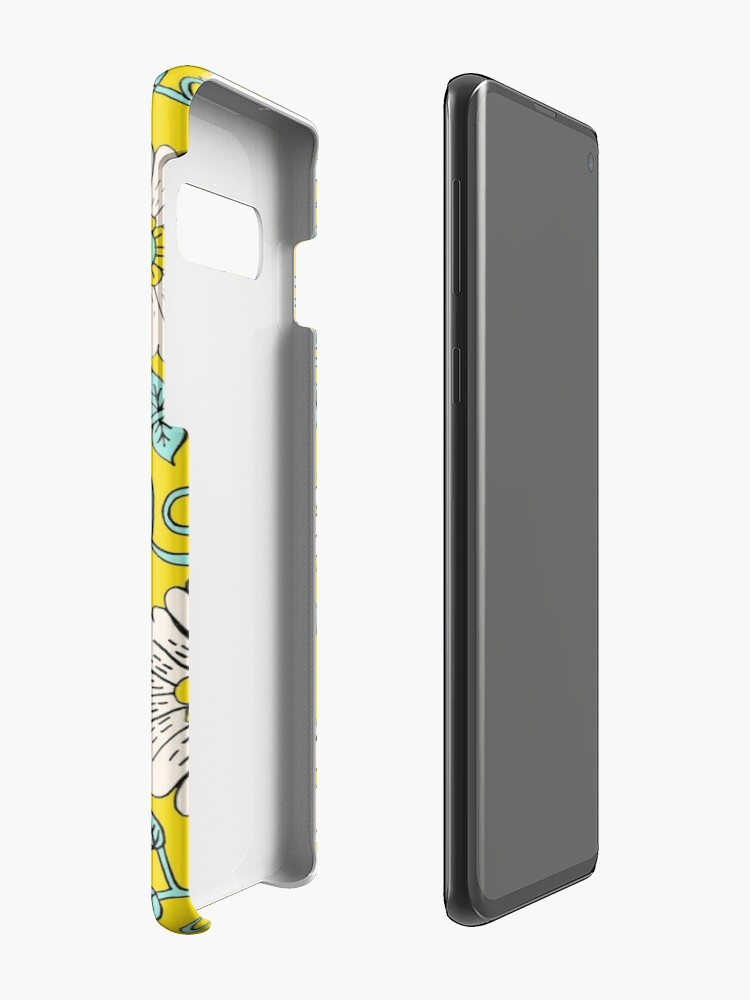 Alternate view of Lemon Yellow Floral Cases & Skins for Samsung Galaxy