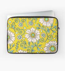 Zitronengelb Floral Laptoptasche