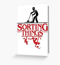 Sorting Things - Jordan B Peterson T Shirt Greeting Card