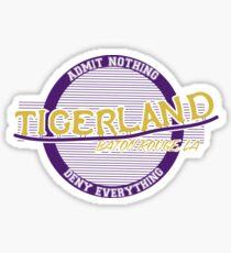 Tigerland logo- sticker and tee Sticker