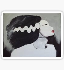 Red-Lipped Bride of Frankenstein  Sticker