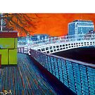 Boardwalk, Hapenny Bridge, Orange - Dublin, Ireland by eolai