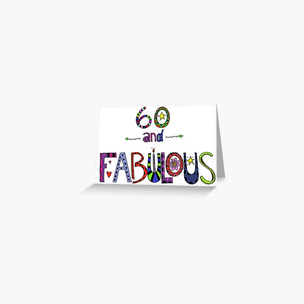 60 und Fabulous 60. Geburtstag Grußkarte
