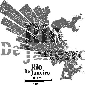 Rio De Janeiro Map by UrbanizedShirts